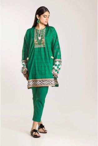 wishcart-Pakistanisuits-Khaadi Winter Vibes Collection 2019 Green CI19502