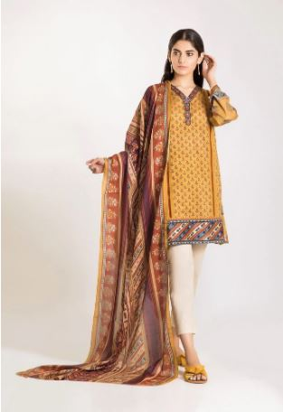 Khaadi Winter Vibes Collection 2019 CM19502 Yellow