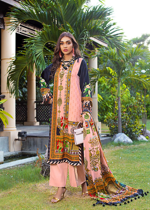 wishcart-Pakistanisuits-Gul Ahmed Luxury Shaleen Digital Satin 2019 Collection DCS06