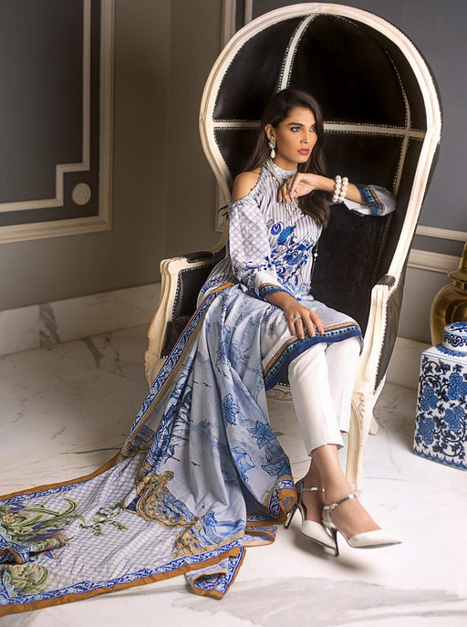 wishcart-Pakistanisuits-Gul Ahmed Luxury Shaleen Digital Satin 2019 Collection DCS07