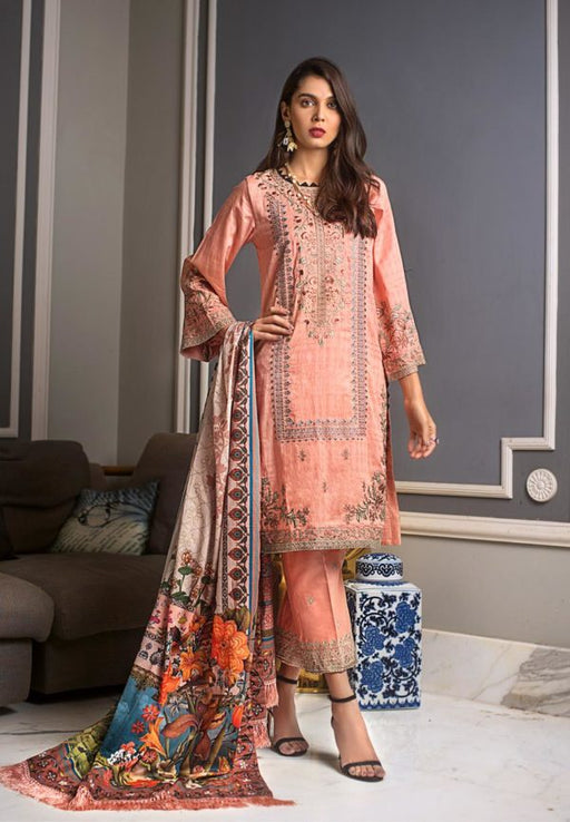 wishcart-Pakistanisuits-Gul Ahmed Luxury Shaleen Digital Satin 2019 Collection DCS08