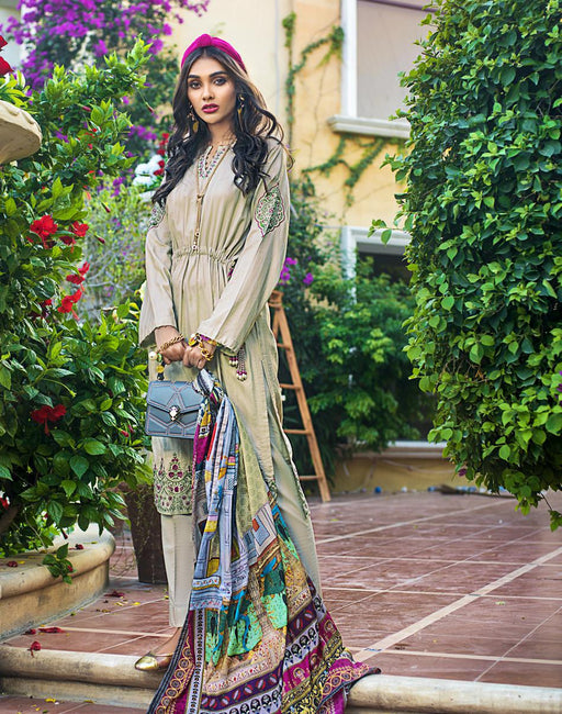 wishcart-Pakistanisuits-Gul Ahmed Luxury Shaleen Digital Satin 2019 Collection  DCS09