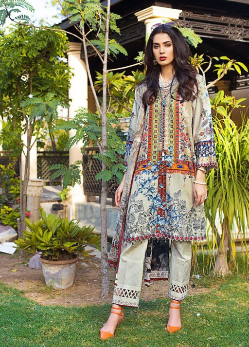 wishcart-Pakistanisuits-Gul Ahmed Luxury Shaleen Digital Satin 2019 Collection DCS11