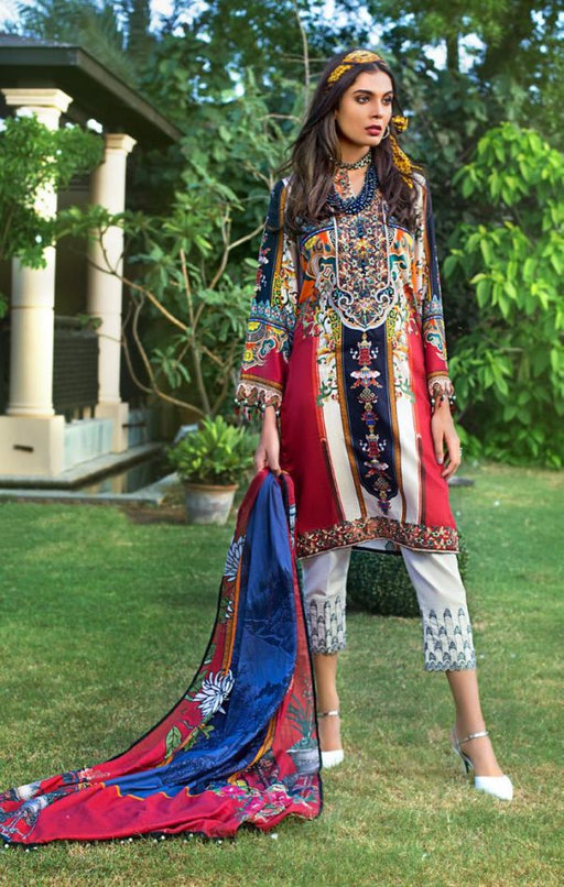 wishcart-Pakistani suits-Gul Ahmed Luxury Shaleen Digital Satin 2019 Collection-DCS12