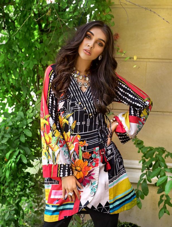 wishcart-Pakistani suits-Gul Ahmed Luxury Shaleen Digital Satin 2019 Collection-DCSS06