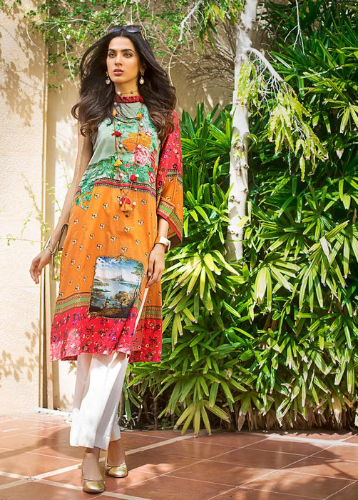 wishcart-Pakistani suits-Gul Ahmed Luxury Shaleen Digital Satin 2019 Collection-DCSS07