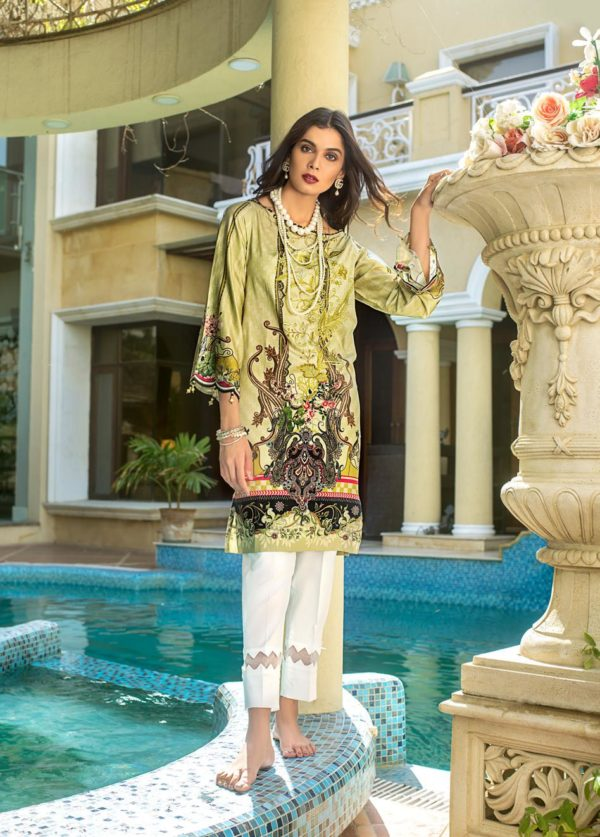 wishcart-Pakistanisuits-Gul Ahmed Luxury Shaleen Digital Satin 2019 Collection-DCSS08