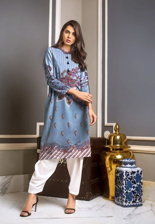 wishcart-Pakistanisuits-Gul Ahmed Luxury Shaleen Digital Satin 2019 Collection DCSS09