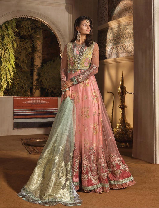 wishcart-Pakistanisuits-Maria B. Wedding Dresses 2019-1802-Daffodil Yellow and Candy Pink