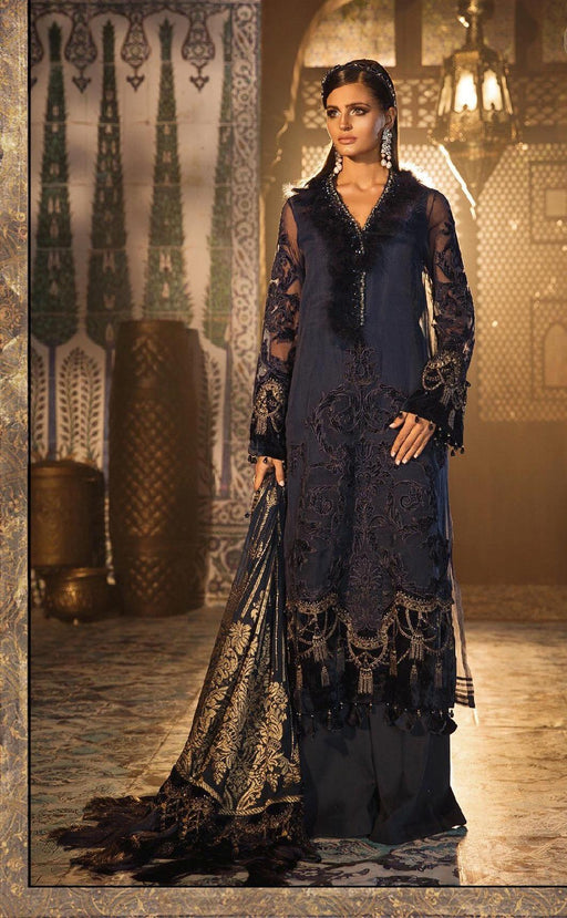 wishcart-Pakistanisuits-Maria B. Wedding Dresses 2019-1803-Deep Sapphire Blue