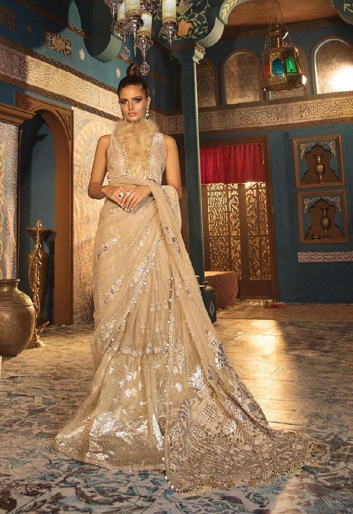wishcart-Pakistanisuits-Maria B. Wedding Dresses 2019-1808- Silver Sandstone