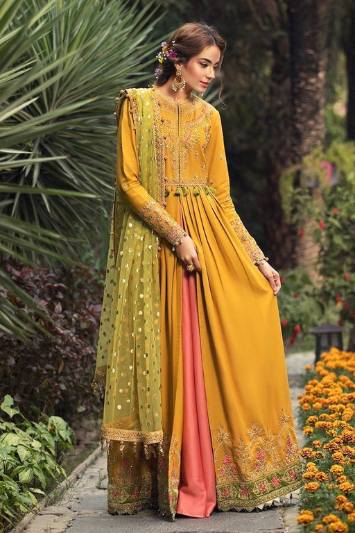 wishcart-Pakistanisuits-Maria B Sateen Winter 2020-CST-206-Marigold Yellow