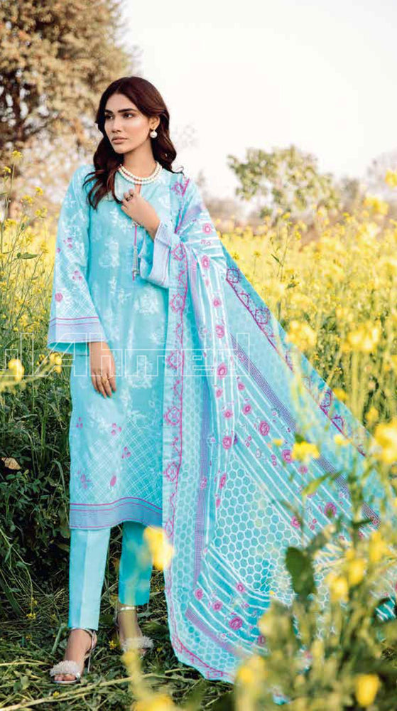 wishcart-Pakistanisuit-Gul Ahmed Summer Basic Lawn Dress 2020 - CL-807 A