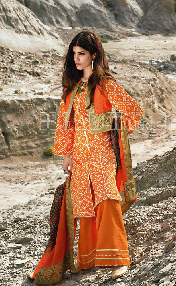 wishcart-Pakistanisuit-Gul Ahmed Summer Basic Lawn Dress 2020 - CL-871