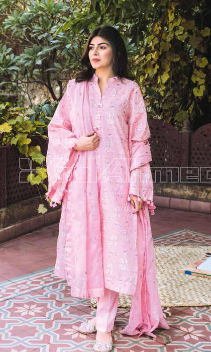 wishcart-Pakistanisuit-Gul Ahmed Summer Basic Lawn Dress 2020 - CL-908