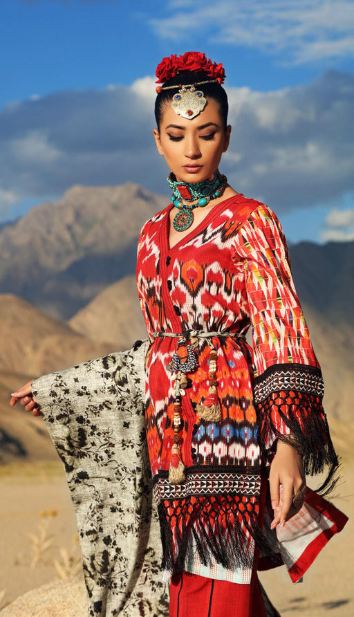 wishcart-Pakistanisuits-Gul Ahmed Craft Winter Dresses 2019  K62 SHANGRILA