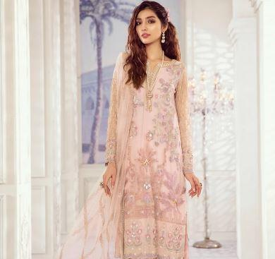 wishcart-Pakistanisuits-Iznik Imperial Dreams Chiffon Collection 2020-IZ06-Fluorescent Pearl