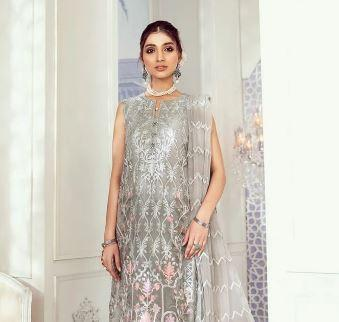 wishcart-Pakistanisuits-Iznik Imperial Dreams Chiffon Collection 2020-IZ09-Pale Sky