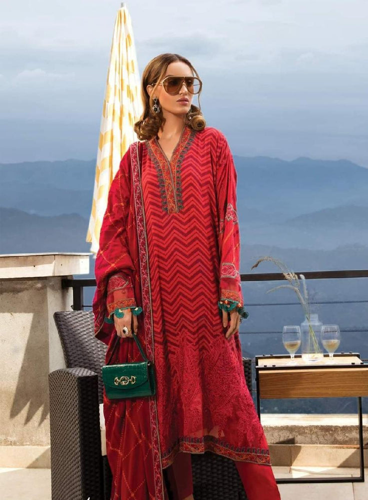 wishcart-Pakistanisuits-Linen La Vie Luxe Winter Dresses '19 By MARIA.B-DL-701-Fuchsia Pink