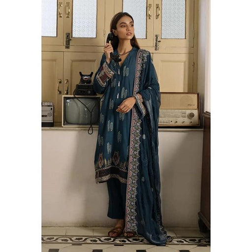 Qalamkar Qline Linen Collection 2019 QLA03