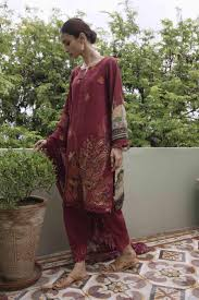 wishcart-Pakistanisuit-Qalamkar Qline Linen Collection 2019 QLA09