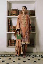 wishcart-Pakistanisuits-Qalamkar Qline Linen Collection 2019 QLA11