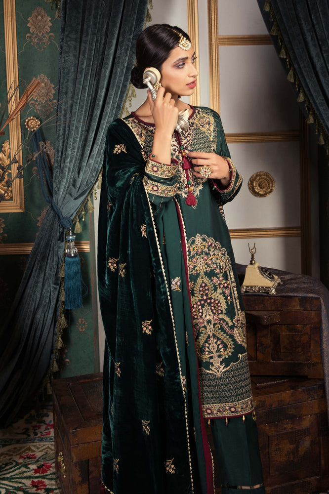 wishcart-Pakistanisuits-Sapphire Festive Dresses 2019-Emerald Wave GREEN