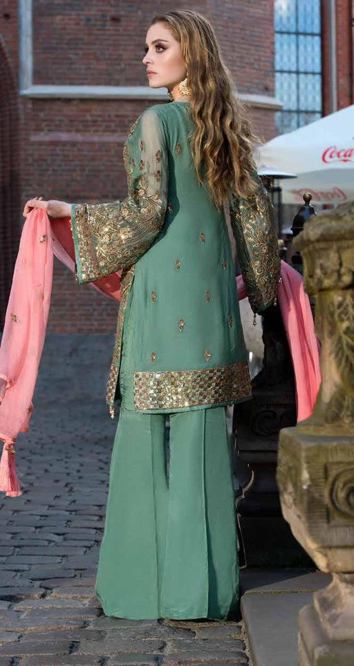 wishcart-Pakistanisuits-Maryum N Maria Shamrock Premium Embroidered Chiffon Dresses SD-01 2