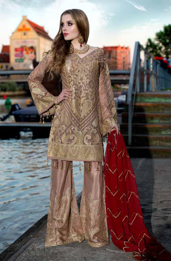 wishcart-Pakistanisuits-Maryum N Maria Shamrock Premium Embroidered Chiffon Dresses SD-02