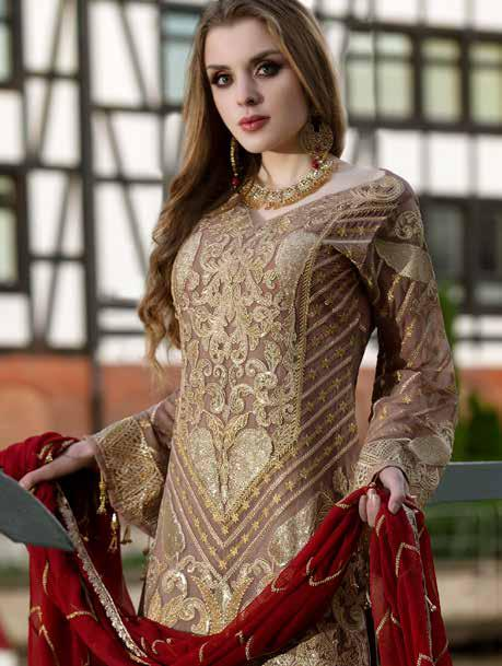 wishcart-Pakistanisuits-Maryum N Maria Shamrock Premium Embroidered Chiffon Dresses SD-02 2