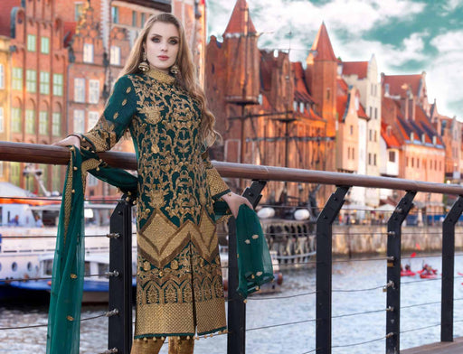 wishcart-Pakistanisuits-Maryum N Maria Shamrock Premium Embroidered Chiffon Dresses SD-03 2
