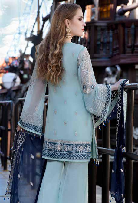 wishcart-Pakistanisuits-Maryum N Maria Shamrock Premium Embroidered Chiffon Dresses SD-04 2