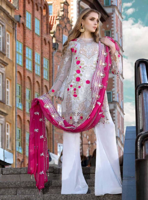 wishcart-Pakistanisuits-Maryum N Maria Shamrock Premium Embroidered Chiffon Dresses SD-06
