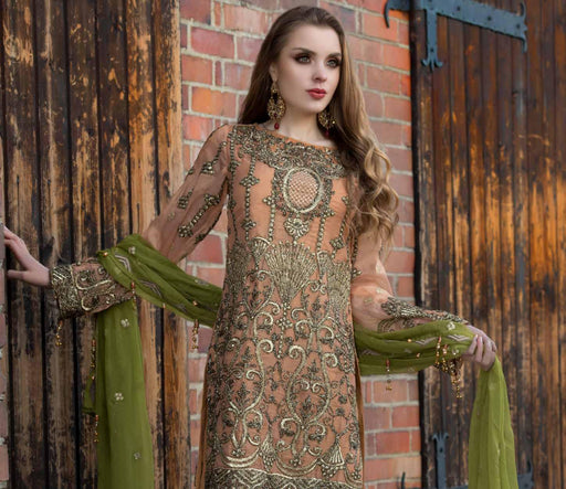 wishcart-Pakistanisuits-Maryum N Maria Shamrock Premium Embroidered Chiffon Dresses SD-07 2