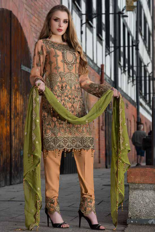 wishcart-Pakistanisuits-Maryum N Maria Shamrock Premium Embroidered Chiffon Dresses SD-07