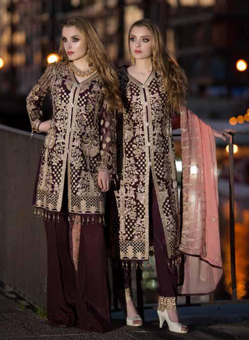 wishcart-Pakistanisuits-Maryum N Maria Shamrock Premium Embroidered Chiffon Dresses SD-08 2