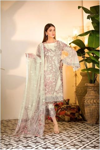 wishcart-Ramsha Chevron Chiffon  Wedding  Collection RAMCWCA104 1
