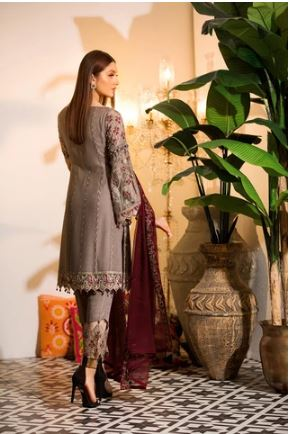 wishcart-Ramsha Chevron Chiffon  Wedding  Collection RAMCWCA106 2