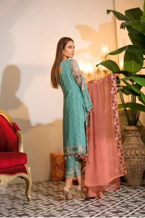 wishcart-Ramsha Chevron Chiffon  Wedding  Collection RAMCWCA107 2