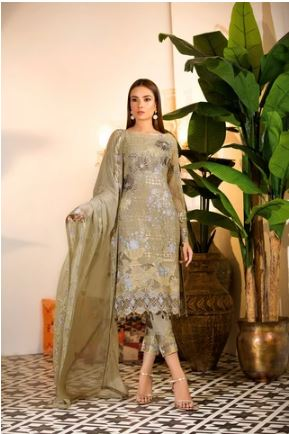 wishcart-Ramsha Chevron Chiffon  Wedding  Collection RAMCWCA109 1