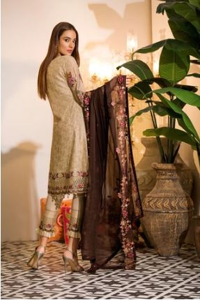 wishcart-Ramsha Chevron Chiffon  Wedding  Collection RAMCWCA111 2