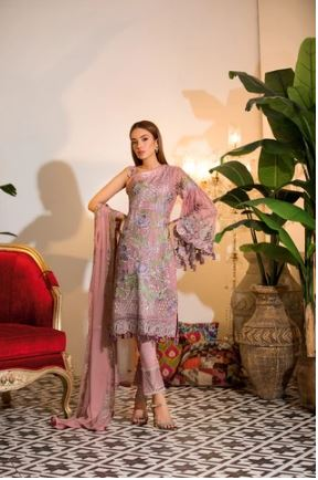 wishcart-Ramsha Chevron Chiffon  Wedding  Collection RAMCWCA112 1
