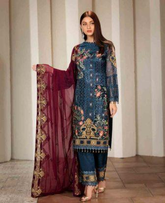 Wishcart-Pakistanisuits-Ramsha Vol 17 Verve Collection 2019 F-1703