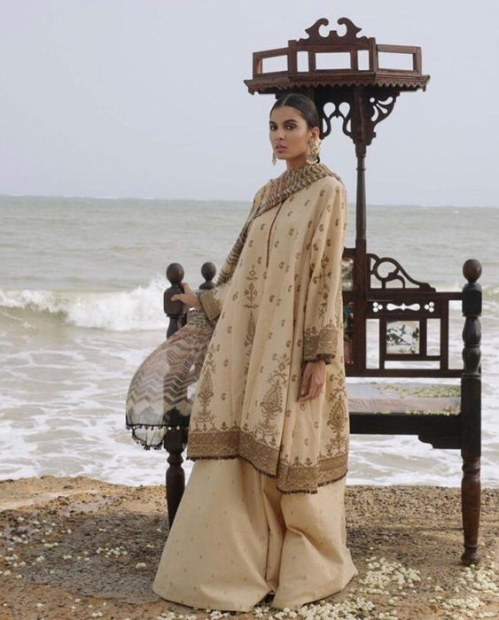wishcart-Zara Shahjahan Luxury Lawn 2019 SHAMS-D7