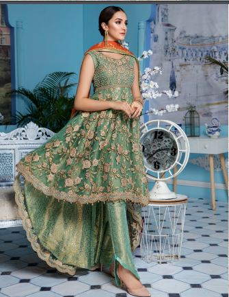 wishcart-Pakistanisuits-Elaf Premium Chiffon Embroidered Collection '19 - EL-401
