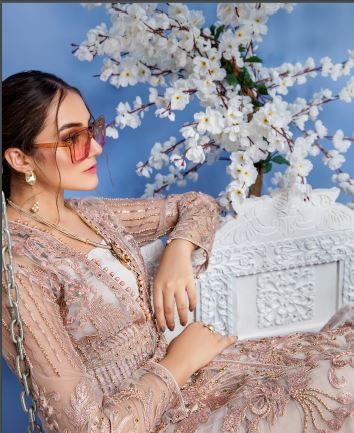wishcart-Pakistanisuits-Elaf Premium Chiffon Embroidered Collection '19 - EL-402