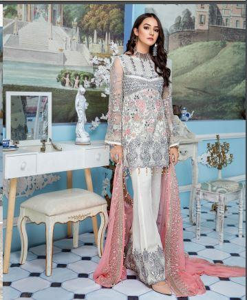 wishcart-Pakistanisuits-Elaf Premium Chiffon Embroidered Collection '19 - EL-404