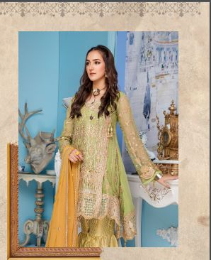 wishcart-Pakistanisuits-Elaf Premium Chiffon Embroidered Collection '19 - EL-405