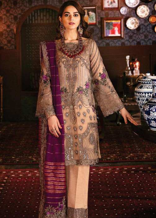 wishcart-Pakistanisuits-Serene Imrozia Embroidered Chiffon Dresses 2020-103 Bronze Maquerade
