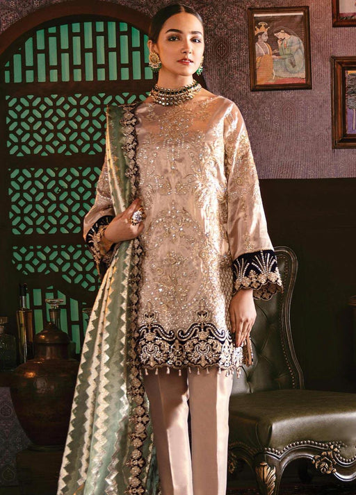 wishcart-Pakistanisuits-Serene Imrozia Embroidered Chiffon Dresses 2020-109 Galore Gold
